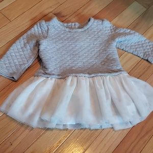 Gap sweater with tulle dress